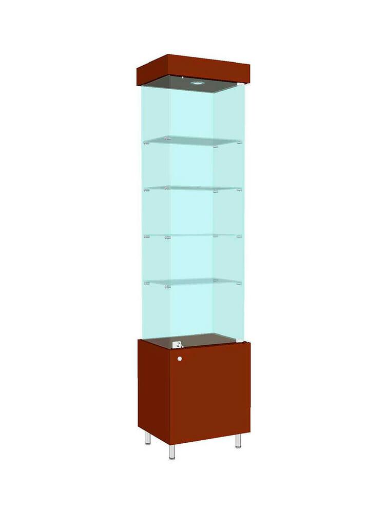 Шкаф стеклянный «ШД-704»