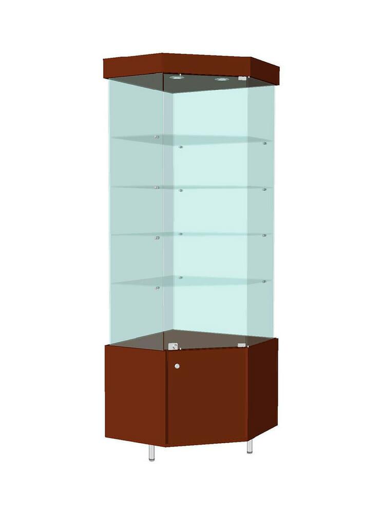 Шкаф стеклянный угловой «ШУД-702»